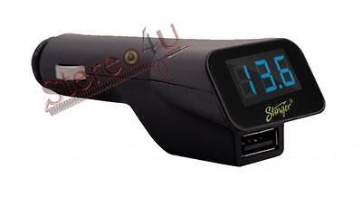 Stinger SGP12 Digital Voltage Meter With USB Charger For Car