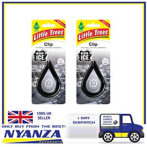 2-X-Magic-Tree-Black-Ice-Little-Tree-Clip-Air-Freshener-Car-Home-Freshener