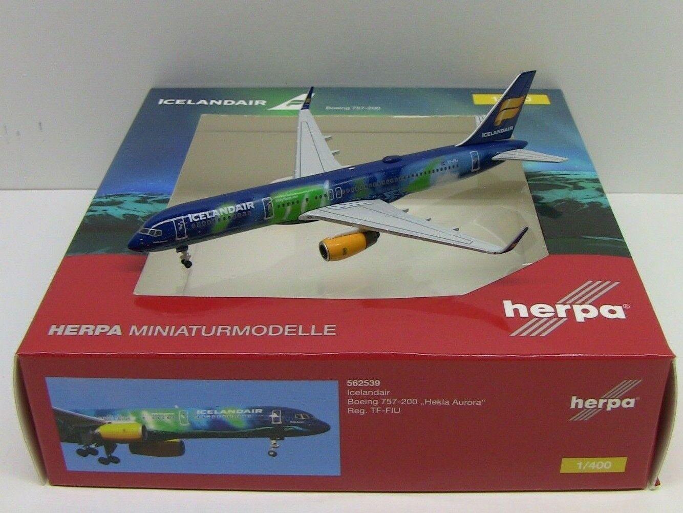 Herpa Icelandair Boeing 757-200 Diecast avión modelo 1 400 HE562539