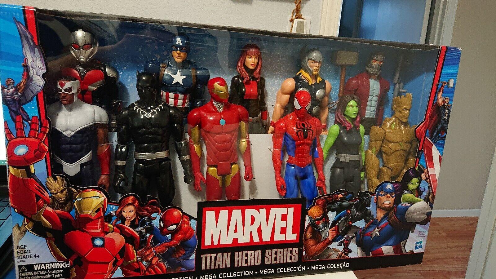 Marvel Mega Colección Titan Hero Series 11 Figuras De Acción