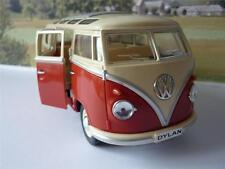 PERSONALISED PLATE Gift Orange VW Camper Van Bus 17cm 1/24 Boys Girls Toy Model