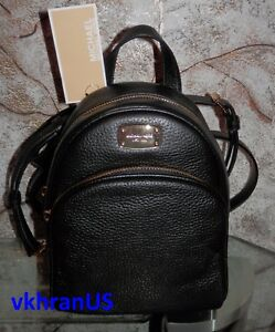 538d7078565a MICHAEL KORS Abbey XS Extra Small SM Black Messenger Backpack ...