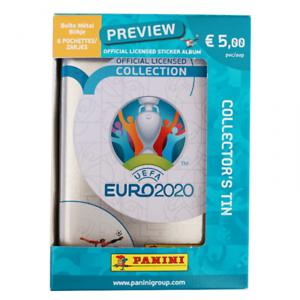 Panini-prevente-EURO-2020-UEFA-Preview-TIN-BOX-6-Tute-pochette-Belgium