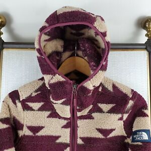 THE-NORTH-FACE-Small-Womens-Aztec-Southwest-Khampfire-Hooded-Soft-Sherpa-Jacket