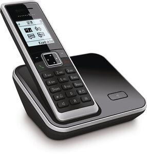 Telekom-Sinus-206-Schwarz-Schnurlos-Telefon-Dect-Schnurloses-Geraet