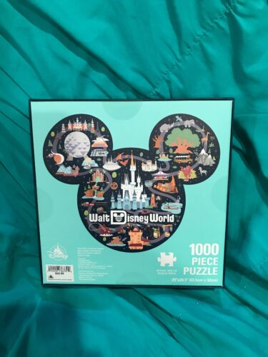 Details about  /Walt Disney World Parks Icon Mickey Mouse 1000 Piece Puzzle Brand New