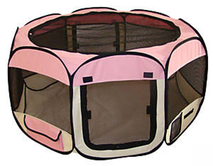 NEW 33  Soft Pet  Dog Cat In Outdoor Tent  Exercise Pen Play Yard Pink - 753