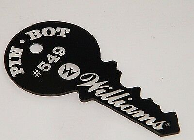 Chills And Pains Fob Pin Bot Williams Pinball Promotional Plastic Key Chain New / Unused