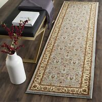 Safavieh Lyndhurst Floral Greyish Blue Ivory Rug 2'3 x 11' - LNH312B-211 Home Furnishings