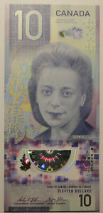 CANADA 2018 GEM UNC 10 Dollars Banknote Polymer Money Bill P NEW Viola Desmond