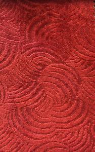 Designer Mid Century Modern Art Deco Velvet Chenille Red Upholstery Fabric Ebay,What Colors Go With Light Mint Green