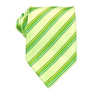Light Green Striped 100% Silk Jacquard Classic Woven Man's Tie Necktie BP112