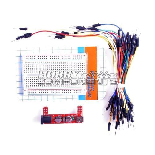 BASETTA KIT-Power Supply Module 400 punti Bread Board 65 Jumper Wire