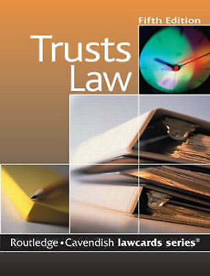 Cavendish: Trusts Lawcards, Routledge, Very Good Book