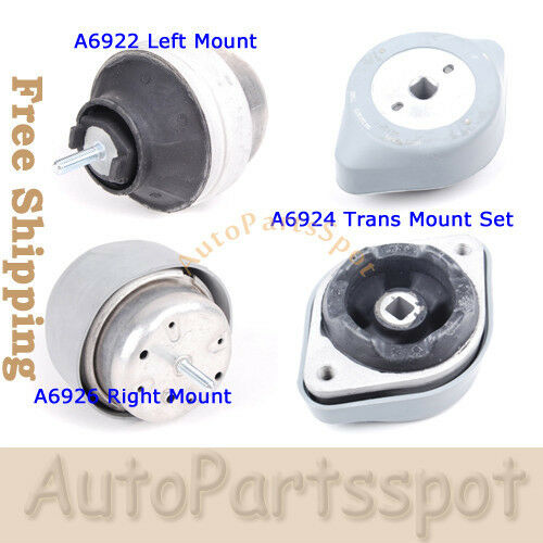 For A4 A6 S4 VW Passat 2.8L 3.0L 2.7L One 1 Engine Motor Mount