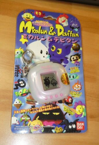 New Micalun and Devitan Clear White Virtual Pet Bandai Japan