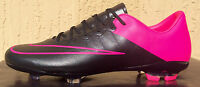 Kids/girls Nike Mercurial Vapor X Fg Soccer Cleats Size 4 Black/pink In Box