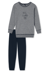 Schiesser Schlafanzug lang Mädchen Bündchen Baumwolle Interlock NEU
