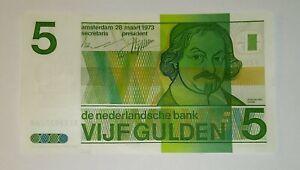 Niederlande-Netherlands-5-Gulden-1973-De-Nederlandsche-Bank-P-95a-UNC