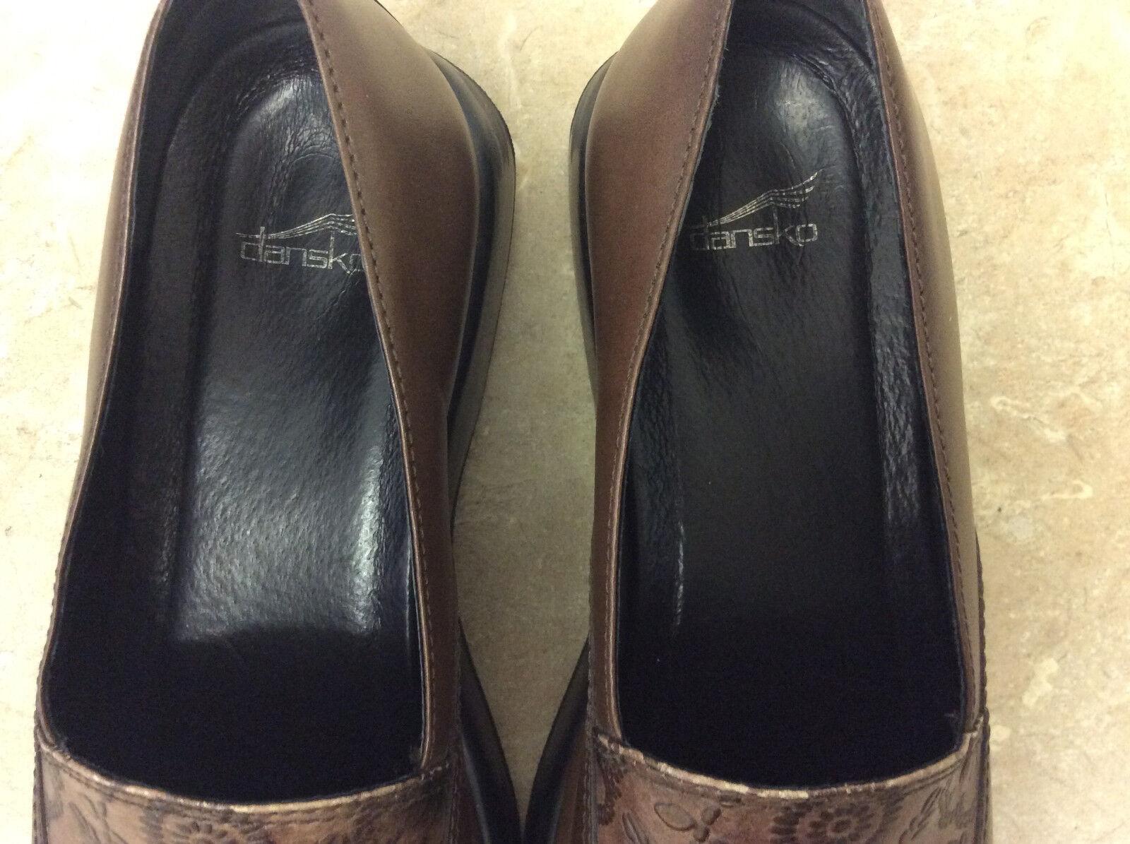 Dansko Mandolin braun Clog Leather damen damen damen Größe 41 US 10.5 7304780200 schuhe 78a73c