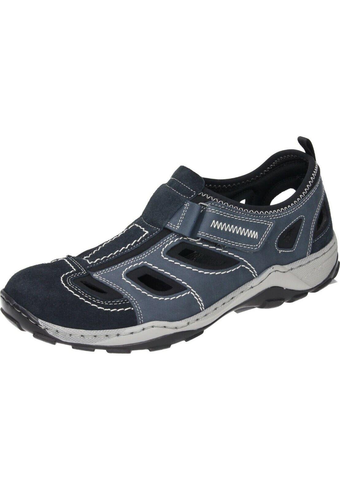 Rieker Sandalen Klettverschluss Slipper Schuhe blau 40 - 47 08075-14 Neu13