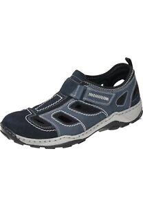 Rieker-Sandalen-Klettverschluss-Slipper-Schuhe-blau-08075-14-40-47-Neu13