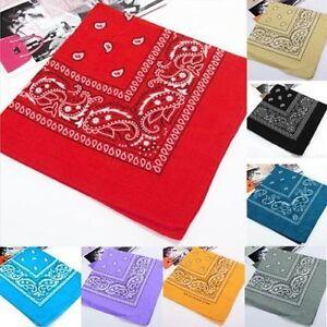 100-Coton-Cachemire-Bandanas-double-face-tete-echarpe-foulard-bracelet-Neuf