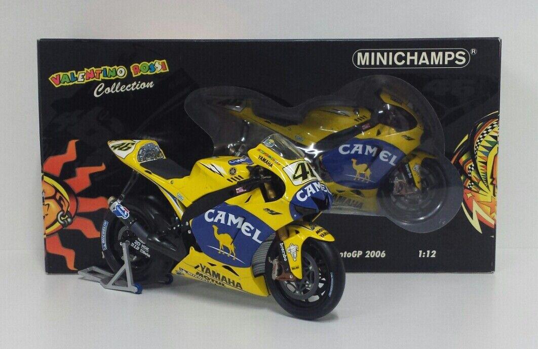 MINICHAMPS VALENTINO ROSSI 1 12 MODEL YAMAHA BIKE M1 2006 MOTOGP DIECAST NEW