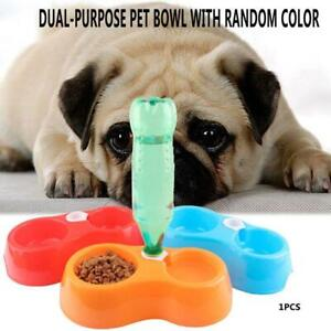 Pet Bowl Water Dispenser Food Bowl Dog Cat Automatic Use Travel T1Y5 Feeder U3T4