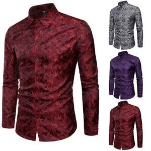 Formal-Luxury-Fit-Casual-Men-039-s-Shirt-T-Shirt-Tops-Long-Sleeve-Dress-Slim-Stylish
