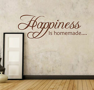 Image Is Loading HAPPINESS Is Homemade Wall Quote DECAL Sticker KITCHEN