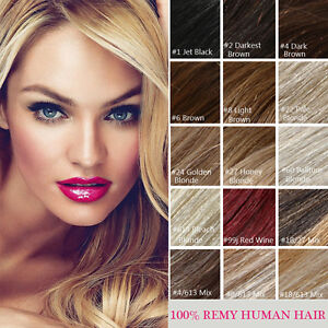100-Clip-In-Real-Human-Hair-Extensions-Black-Brown-Blonde-Highlight-14-034-30-034