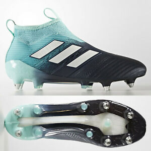 the latest 2014e d3945 Details about adidas Ace 17+ Purecontrol SG Mens Football Boots Soccer  Cleats Aqua Laceless