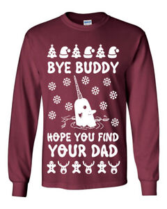 image is loading 645 bye buddy long sleeve shirt ugly christmas - Buddy The Elf Christmas Sweater