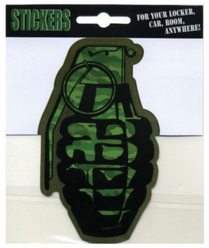 "2 3//4/"" x 4.5/"" Auto Decal Locker Room  ST135 Die Cut Sticker Grenade"