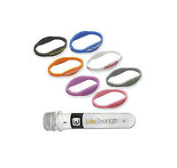 Life Strength Healthy Ion Infused Energy Wrist Band Bracelet Balance Sx Sm M L