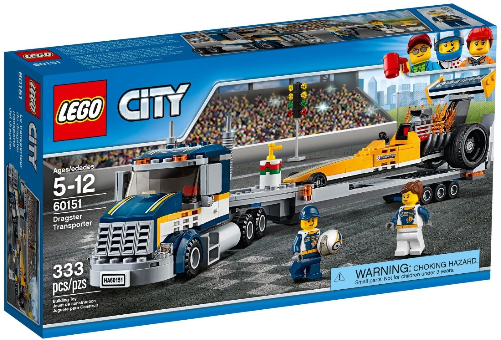 LEGO ® City 60151 DRAGSTER Transporter Nuovo OVP NEW MISB NRFB