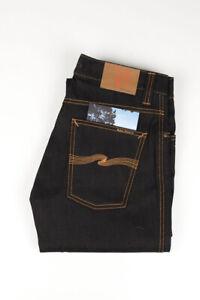 32085 Nudie Jean Slim Jim Original Sec Foncé Bleu Foncé Hommes Jean Taille 31/34