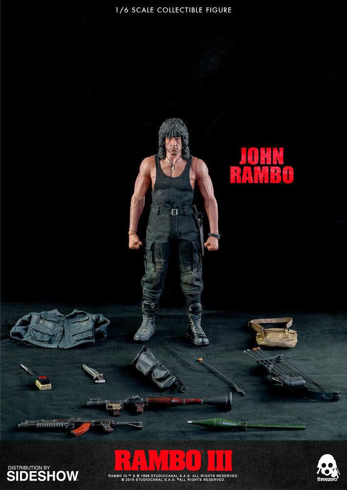 ThreeZero 1/6th scale Rambo III John Rambo figure Sylvester Stallone IN STOCK on eBay thumbnail
