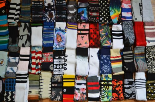Lot of 4 Stance Mens Crew Socks Size Large L Grade B Socks