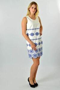 BODEN-White-Blue-Embroidered-Sleeveless-Scallop-Hem-Dress-SALE-Was-99