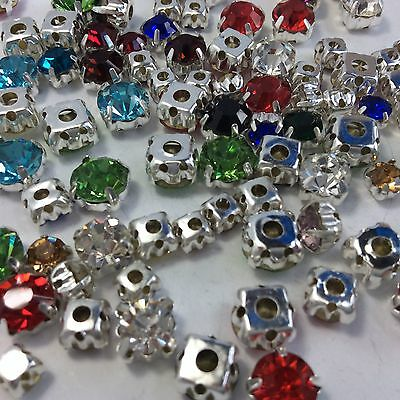 SS22 (4.9mm) Point back Rhinestone Settings Claws Sew On Cup Stones 720ps