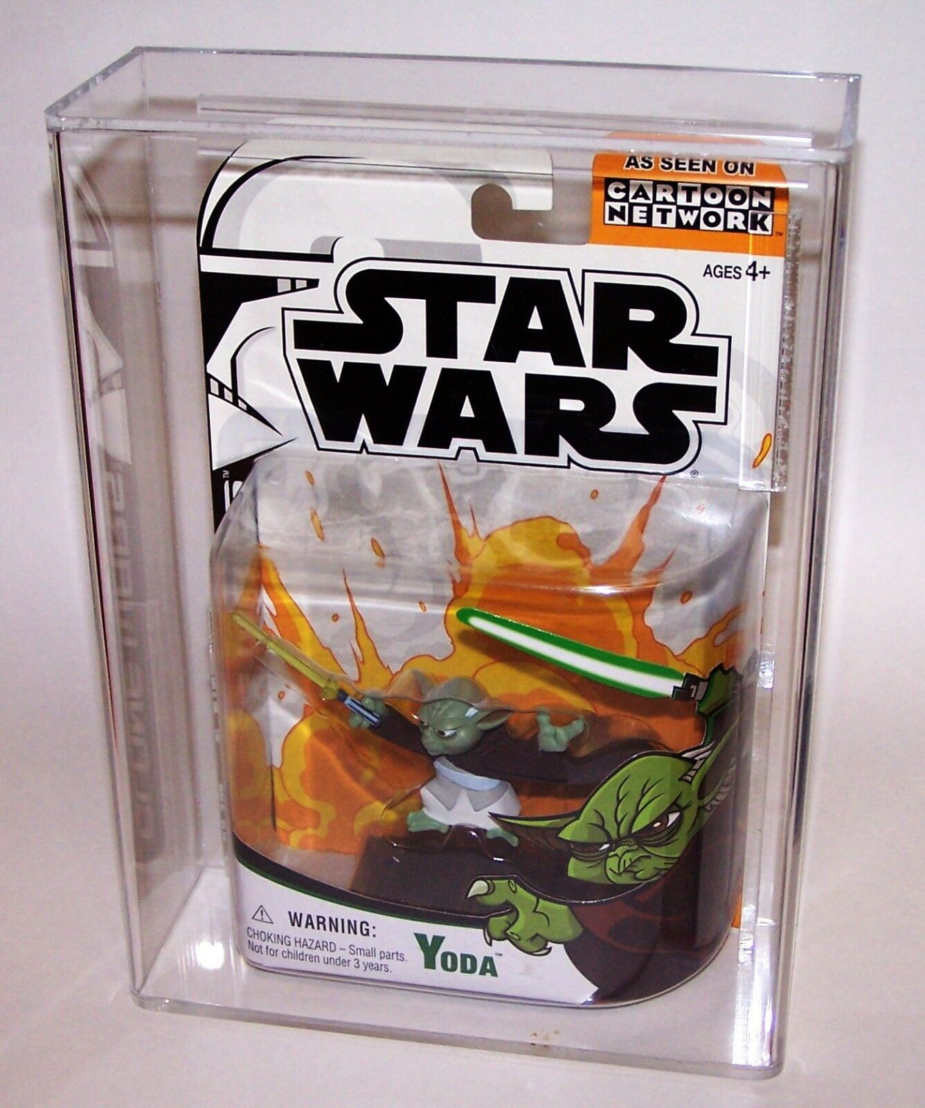 Star Wars Clone Wars Animated Yoda Action Figure Hasbro 2004 Graded AFA 85 NM+