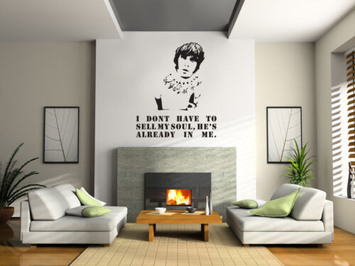 Wall Quote STONE ROSES I WANNA BE ADORED IAN BROWN STICKER DECOR DECAL Lyrics