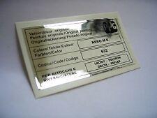 LANCIA DELTA INTEGRALE PPG COLORE / COLOUR / FARBTON NERO M.S. 632 STICKER