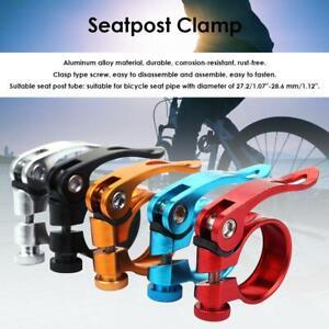 Aluminum Alloy 31.8mm Seatpost Clamp Quick Release MTB Bike Seat Post Tube  #BU