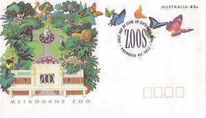 (13823) Australie Entiers Postaux Fdc Papillons Melbourne Zoo 28 Sept. 1994-afficher Le Titre D'origine