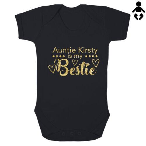 mejores amigos Personalizado Bebé Crecen Chaleco//Traje de baño de bebé es mi Bestie La tía.