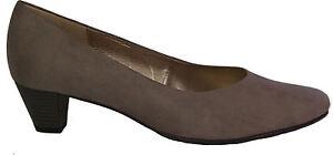 Details zu GABOR Schuhe Pumps grau stone Micro HT ( Velour ) G Weite Absatz 40 mm NEU