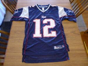 Details about Tom Brady #12 Authentic Reebok NFL New England Patriots Jersey Men Adult Medium